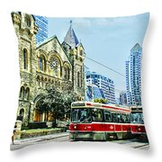 St Andrew Church In Toronto Throw Pillow