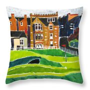 St Andrews 17 Throw Pillow