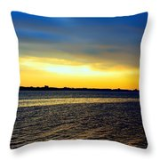 St Andrews Bay Sunset Throw Pillow