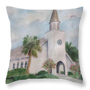 St. Andrews By The Sea Throw Pillow