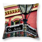 St. Ann And Chartres Nola  Throw Pillow