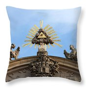 St Anne's Church In Budapest Architectural Details Throw Pillow
