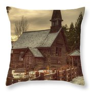 St Anne's Church In Winter Throw Pillow