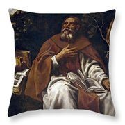 St Anthony Abbot Throw Pillow