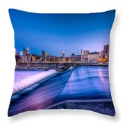 St. Anthony Falls In Minneapolis Throw Pillow