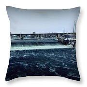St Anthony Falls Minneapolis Throw Pillow