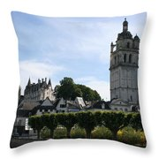 St. Antoine Tower And The Chateau De Loches Throw Pillow
