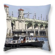 St Augustine Bridge View Throw Pillow