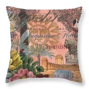 St. Augustine Florida Vintage Collage Throw Pillow