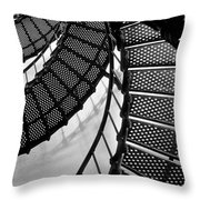 St. Augustine Lighthouse Steps Throw Pillow
