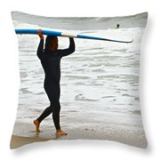 St Augustine Surfer Four Throw Pillow