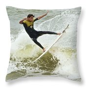 St Augustine Surfer Two Throw Pillow