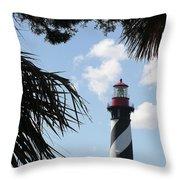 St. Ausgustine Lighthouse Throw Pillow