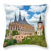 St Barbara Church Kutna Hora Throw Pillow