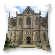 St Barbaras Cathedral Kutna Hora Czech Republic Throw Pillow