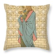 St Barnabas Throw Pillow by English School