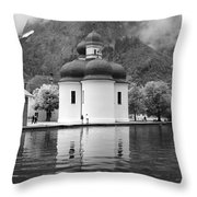 St. Batholomae At The Lake Throw Pillow