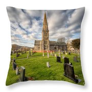 St Beuno Church Throw Pillow by Adrian Evans