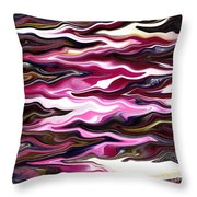 St Brigid Pink Waves Throw Pillow