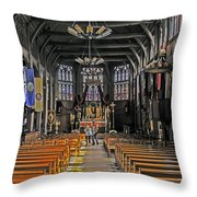 St. Catherine's Of Honfleur Throw Pillow