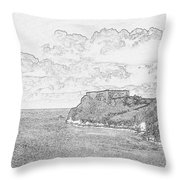 St Catherines Rock Tenby 2 Throw Pillow