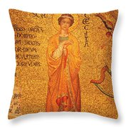 St Cecilia  Throw Pillow