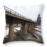 St. Charles Airline Bridge Throw Pillow