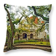 St. Charles Ave. Mansion Throw Pillow