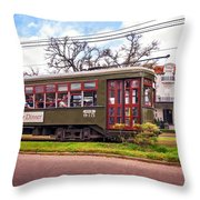 St. Charles Ave. Streetcar 2 Throw Pillow