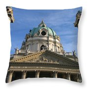 St Charles Church Vienna Austria Throw Pillow
