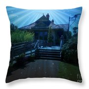 St. Charles Frontier Park Throw Pillow