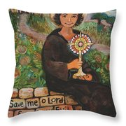 St. Clare Of Assisi Throw Pillow