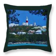 St. David's Light Bermuda Throw Pillow
