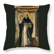 St. Dominic De Guzman Throw Pillow