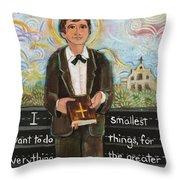 St Dominic Savio Throw Pillow