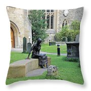 St Edmund Of Abingdon Throw Pillow