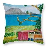 St. Eustatis From St. Kitts Throw Pillow