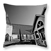 St. Francis - Abstract Bw Throw Pillow