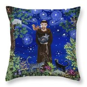 St. Francis And Spike Throw Pillow