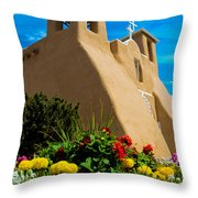 St Francis D'asis Mission Church. Taos New Mexico Throw Pillow