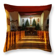 St Francis De Paula Mission Tularosa Throw Pillow by Bob Christopher