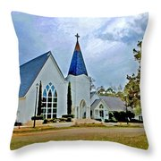 St. Francis Front Cropped 2 Throw Pillow