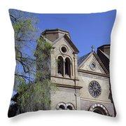 St. Francis Of Assisi Church Throw Pillow