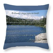 St Francis Prayer Before The Crucifix Throw Pillow