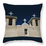 St. Francis Taos Throw Pillow