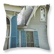 St Francisville Inn Windows Louisiana Throw Pillow