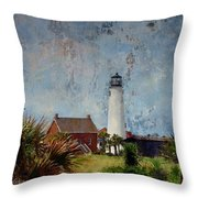 St. George Island Historic Lighthouse Throw Pillow