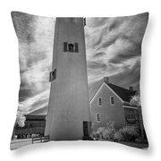 St. George Island Lighthouse Throw Pillow