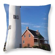 St. George Lighthouse Throw Pillow