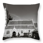 St Georges Church Preshute Throw Pillow